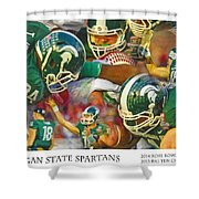 Rose Bowl Collage Shower Curtain