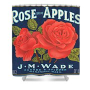 Rose Brad Apples Crate Label Shower Curtain