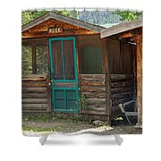Rose Cabin At The Holzwarth Historic Site Shower Curtain