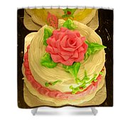 Rose Cakes Shower Curtain