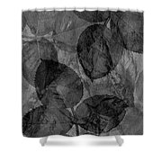 Rose Clippings Mural Wall - Black And White Shower Curtain