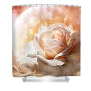 Rose - Colors Of The Moon Shower Curtain