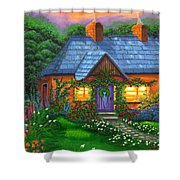 Rose Cottage Shower Curtain