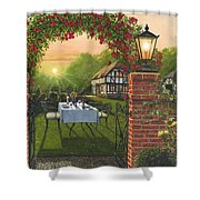 Rose Cottage - Dinner For Two Shower Curtain