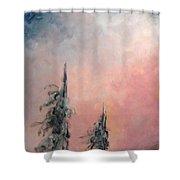 Rose De Givre - Frost Pink Shower Curtain
