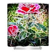 Rose Expressive Brushstrokes Shower Curtain