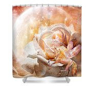 Rose For A Unicorn Shower Curtain