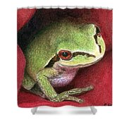 Rose Frog Shower Curtain