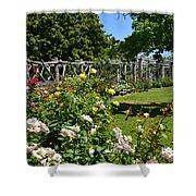 Rose Garden And Trellis Shower Curtain