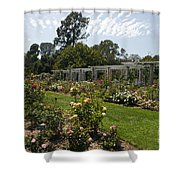 Rose Garden At The Huntington Library Shower Curtain