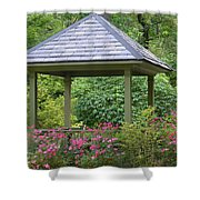 Rose Garden Gazebo Shower Curtain
