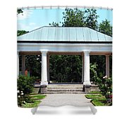 Rose Garden Pergola In Delaware Park Buffalo Ny Oil Painting Effect Shower Curtain