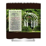 Rose Garden Prayer Shower Curtain