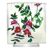 Vintage Rose Shower Curtain