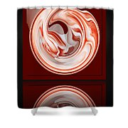 Rose In Orb Shower Curtain