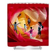 Rose Labyrinth Shower Curtain