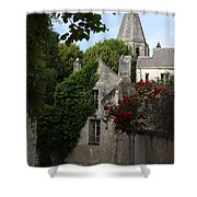 Rose Lane In Loches Shower Curtain