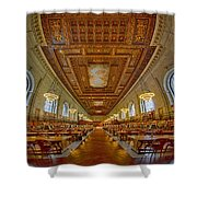 Rose Main Reading Room At The Nypl Shower Curtain