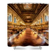 Rose Main Reading Room Shower Curtain