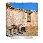 Rose Of Lima Chapel Shower Curtain