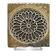Rose Of The Cathedral Of San Giusto Shower Curtain