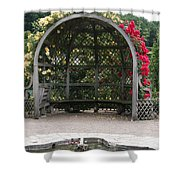 Rose Pavilion At Chateau Villandry Shower Curtain