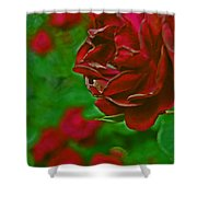 Rose Red By Jrr Shower Curtain