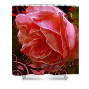 Rose Rose And Rose Shower Curtain