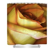 Rose Scan Softened Shower Curtain
