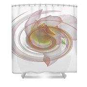 Rose Swirl Shower Curtain