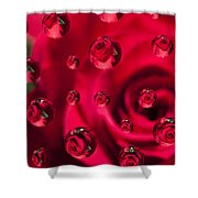 Rose Syrup Abstract 1 A Shower Curtain