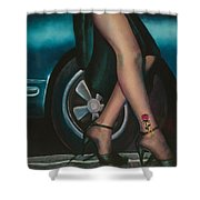 Rose Tattoo Shower Curtain