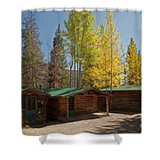 Rose Twin 1 And Twin 2 Cabins At The Holzwarth Historic Site Shower Curtain