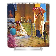 Rose Water Shower Curtain