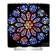 Rose Window Of Grace Cathedral By Diana Sainz Shower Curtain