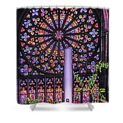 Rose Window Of St Vincent Shower Curtain