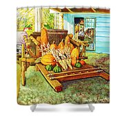 Rosebank Farm Cart Shower Curtain