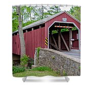 Rosehill Covered Bridge Shower Curtain
