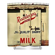 Rosenberger's - Dairy Milk  Shower Curtain