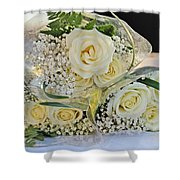 Roses And Baby Breath Shower Curtain