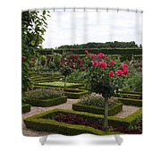 Roses And Cabbage -  Chateau Villandry Shower Curtain