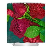 Roses And Carnations Shower Curtain