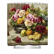 Roses And Fruit Shower Curtain