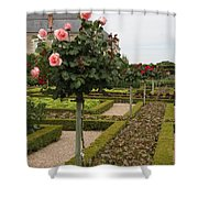 Roses And Salad - Chateau Villandry Shower Curtain