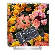 Roses At Flower Market Shower Curtain