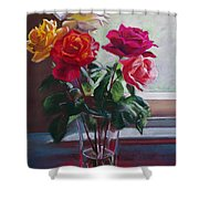 Roses By The Window Shower Curtain
