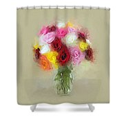 Roses In A Vase 1 Shower Curtain