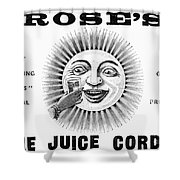 Roses Lime Juice Cordial Shower Curtain