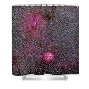 Rosette And Cone Nebula Area Shower Curtain