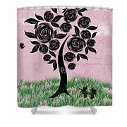 Rosey Posey Shower Curtain